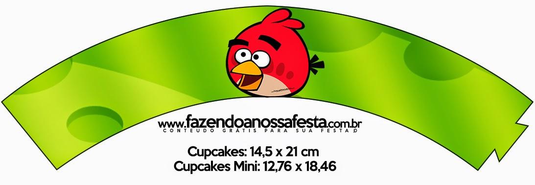 Wrappers para cupcakes de Angry Birds.