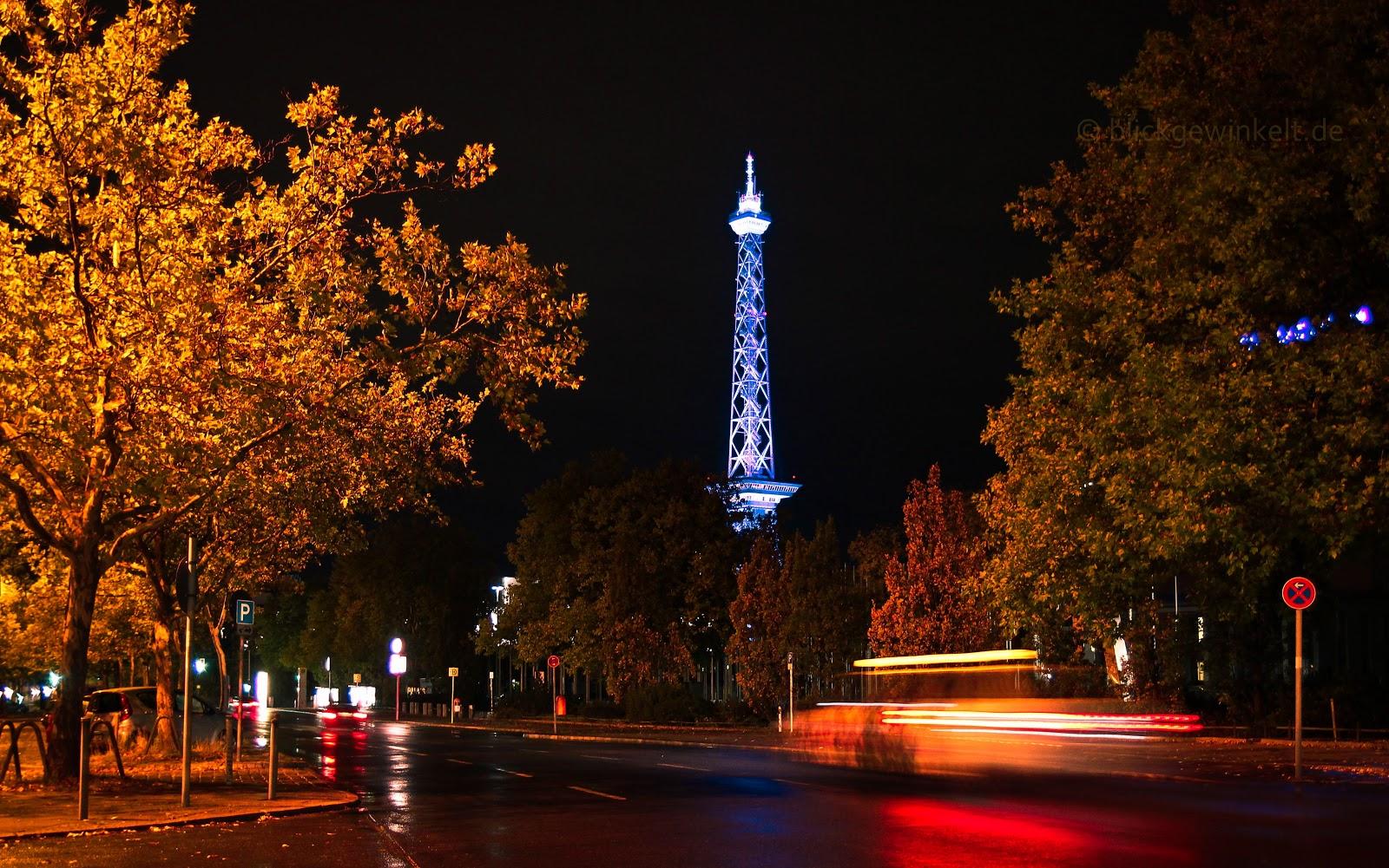 Der Funkturm beim Festival of Lights 2012