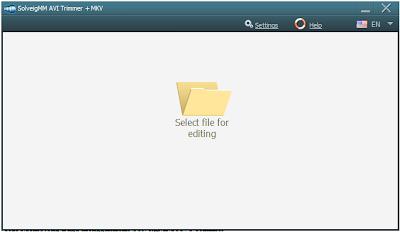 langkah ke 2 untuk memotong video menggunakan SolveigMM AVI Trimmer + MKV