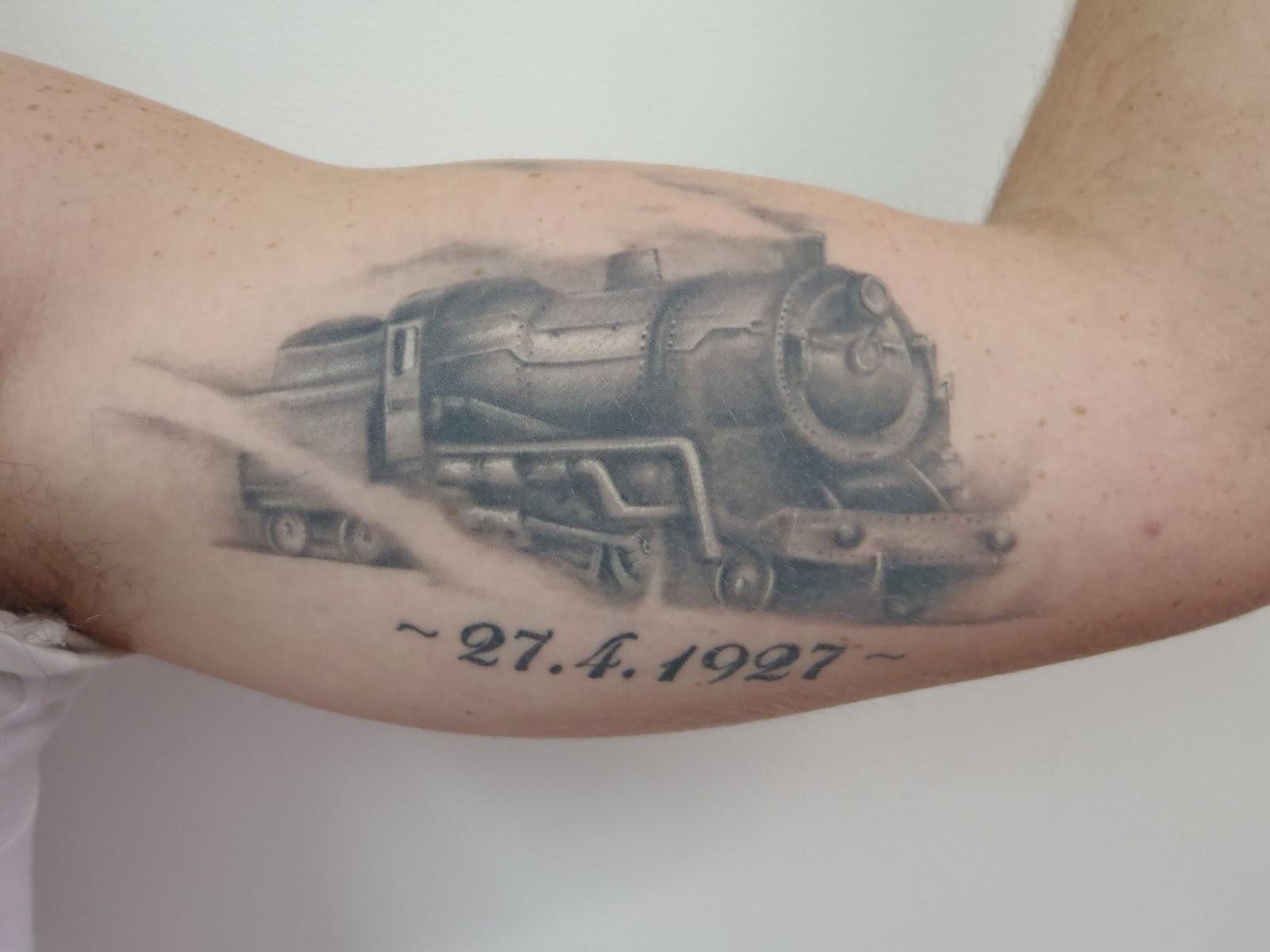 the gallery for locomotive tattoos. Black Bedroom Furniture Sets. Home Design Ideas