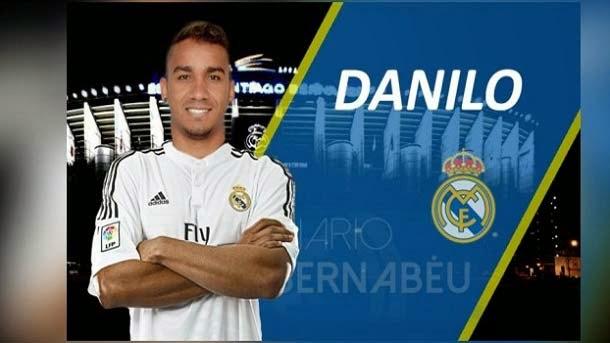 El Real Madrid anuncia el fichaje de Danilo