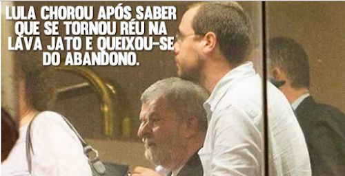Lula chora em reunião com advogados e reclama de abandono da classe Artística