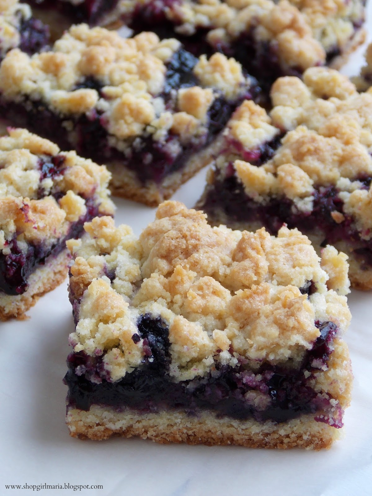 Shopgirl: Blueberry Crumb Bars