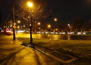 RAINFALL: WINTER STREET SCENE