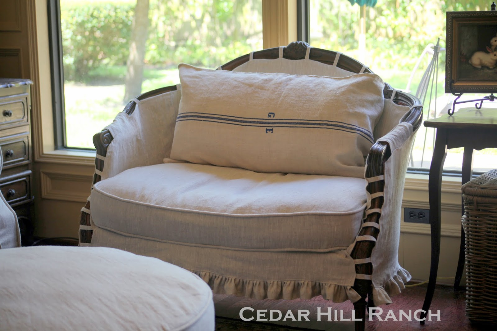 linen taking chair made frustrating your rustic slipcover slipcovers but was a img time i store things can done for be my is farmhouse part it also this thrift thinking through and the