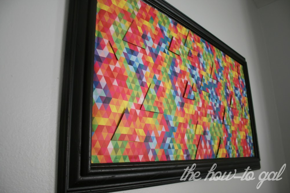 3d wall art with 3m diy