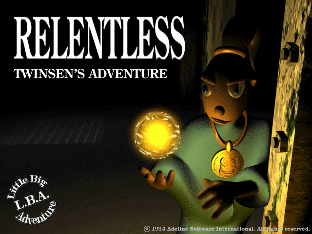 Little Big Adventure Relentless title screen dos pc
