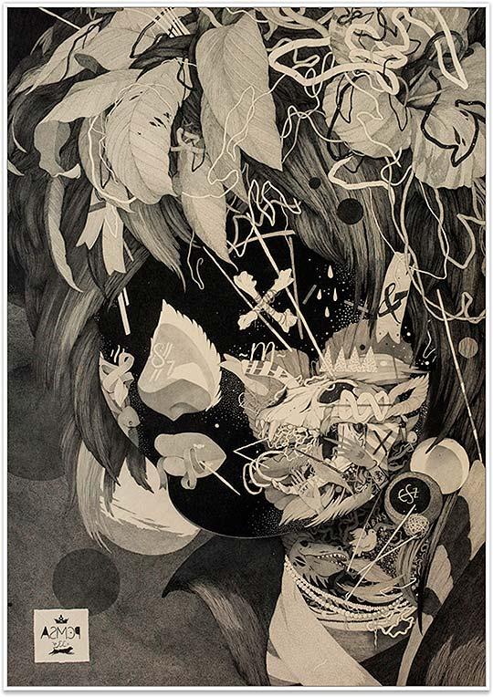 Destacado. Ilustración y dibujo surrealista de Benze
