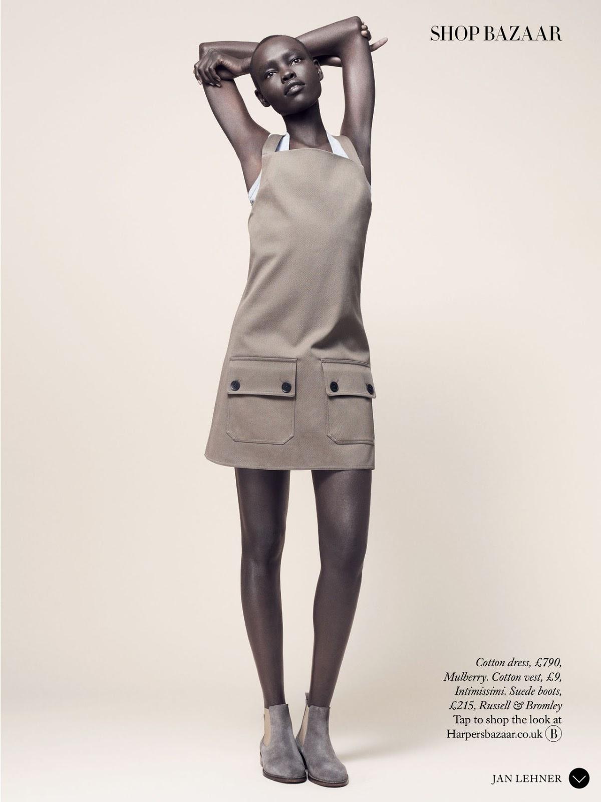 Grace Bol in Spring Clean / Harper's Bazaar UK March 2015 (photography: Jan Lehner, styling: Sara Gilmour)