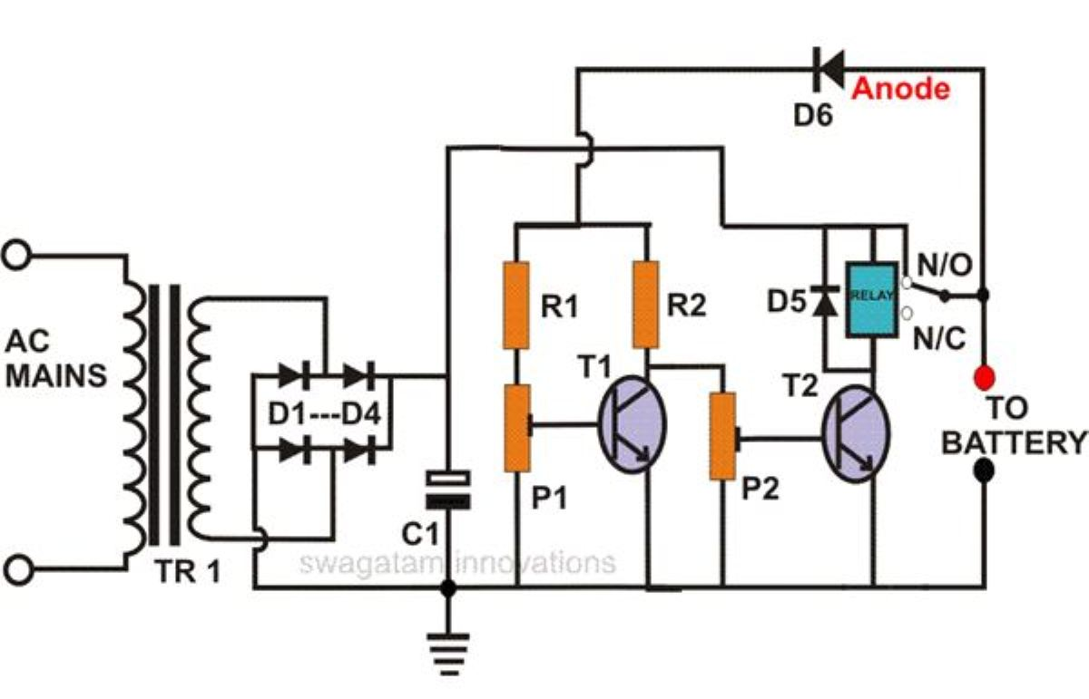 self regulating lead acid battery charger circuit