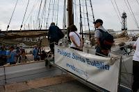 embarque al pailebote Santa Eulalia en Barcelona