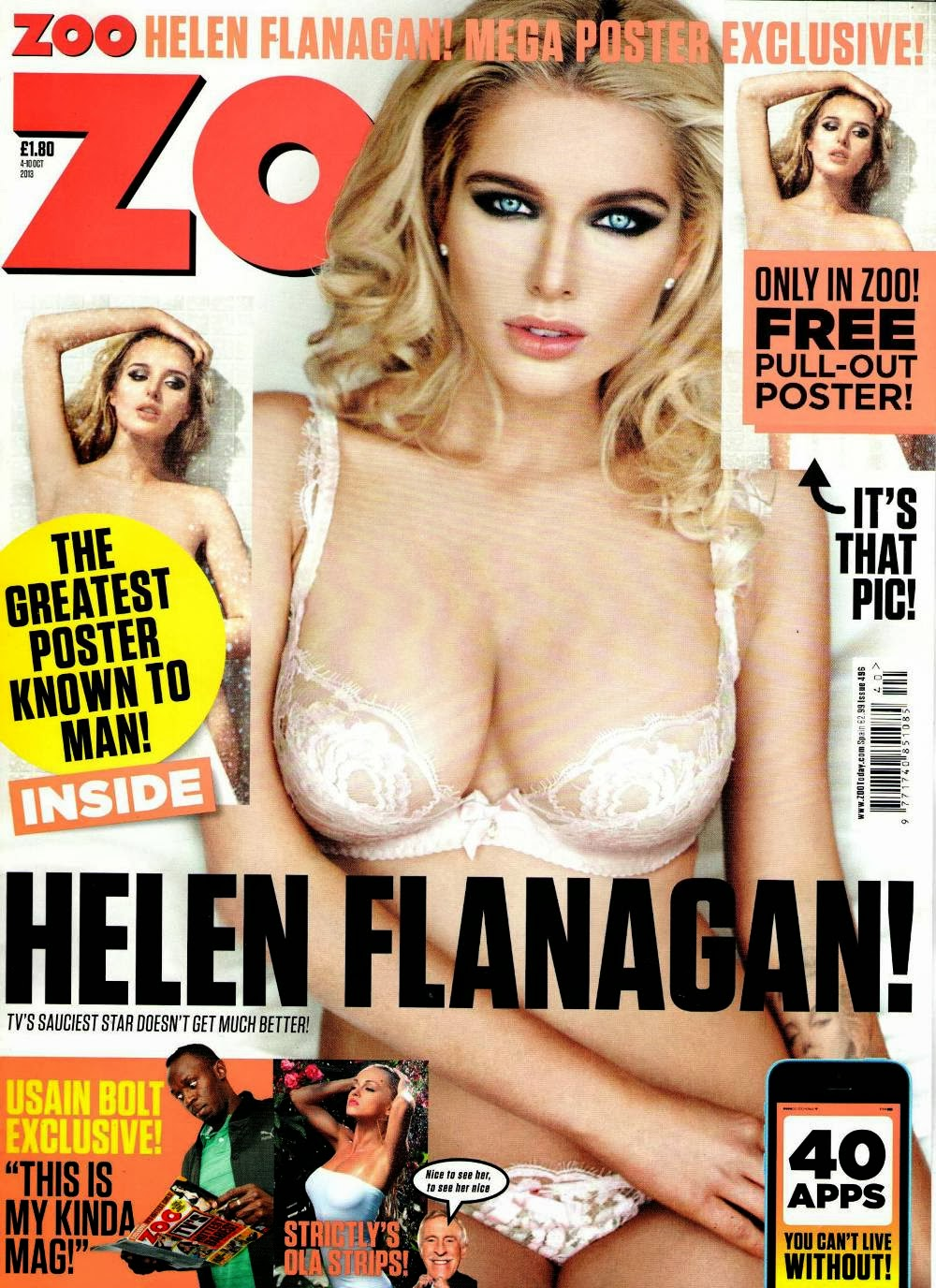 Helen Flanagan Topless in Zoo Magazine