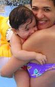 Milena Lima e a pequena Beatriz de São Luis - MA