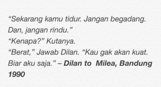 Dilan Milea Percakapan