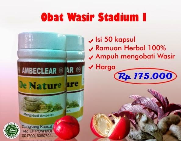 Obat Wasir atau Ambeien stadium 1 dan 2