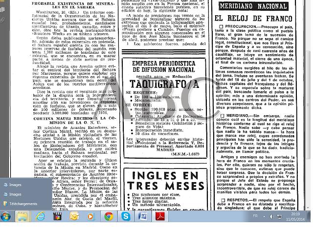 Visita comision de la ONU al Sahara y probable existencia de minerales en el Sahara (ABC, 11/05/1975)