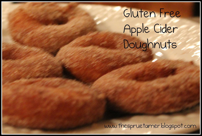 Taming of the {celiac} Sprue: Gluten Free Apple Cider Doughnuts