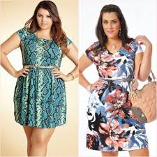 vestido curto estampado plus size - fotos e modelos