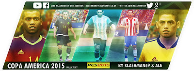 PES 2015 Copa America 2015 Kit Pack .cpk By Klashman & Ale