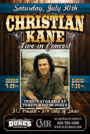 CountryMusicRocks & Dukes Bar & Grill Present: Christian Kane Live In Concert