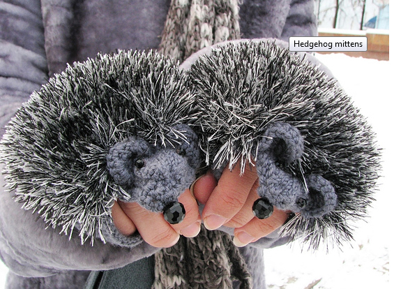 Grosgrain: Hedgehog Mittens