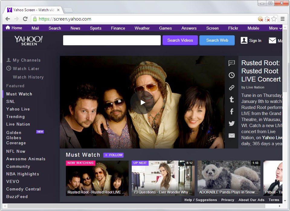 Yahoo Screen Become a Serious YouTube Competitor