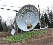 Quesnel B.C. Gigantic Gold Pan/More