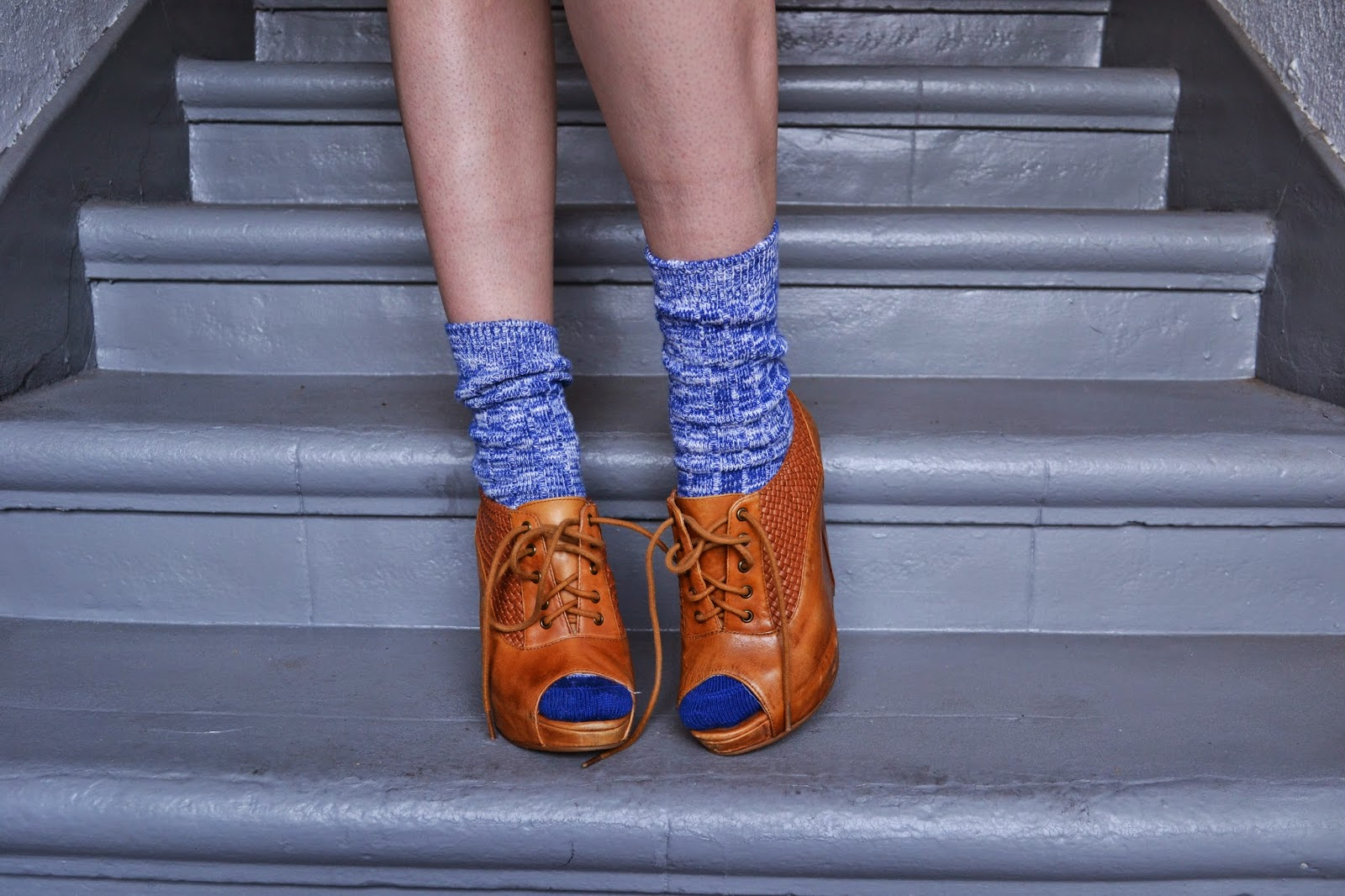 marled, cobalt, peek-a-boo, casual style, shoes, socks, fashion, budget