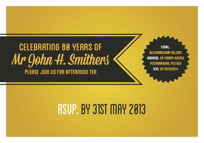Birthday Invite Design | Louder Graphics
