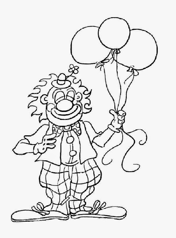 cute clown coloring pages getcoloringpagescom sketch