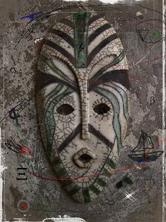 abstract digital art mask