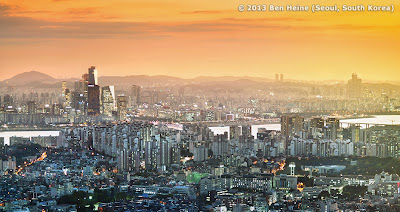 Seoul Panorama by photographer Ben Heine