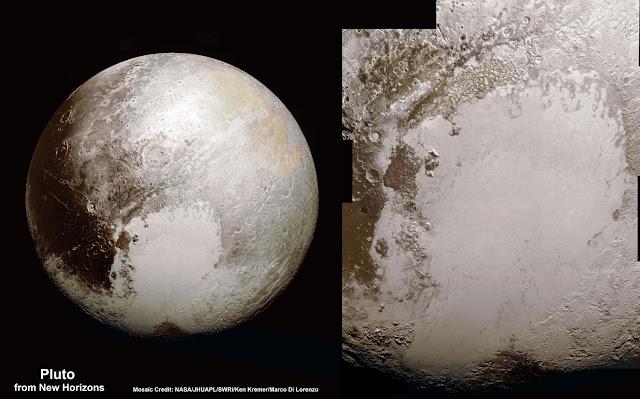 Mosaico de imágenes de Plutón