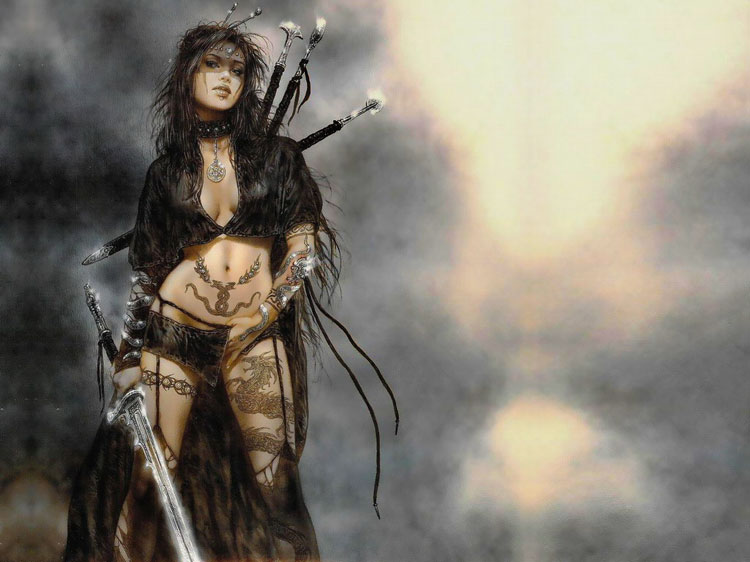 I would love to see a full movie created based on this fantasy art female ...