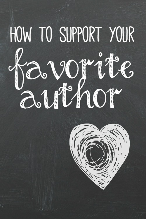 How to Support Your Favorite Author