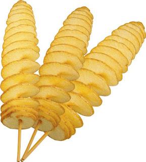 usaha kuliner kentang puter atau kentang ulir goreng renyah