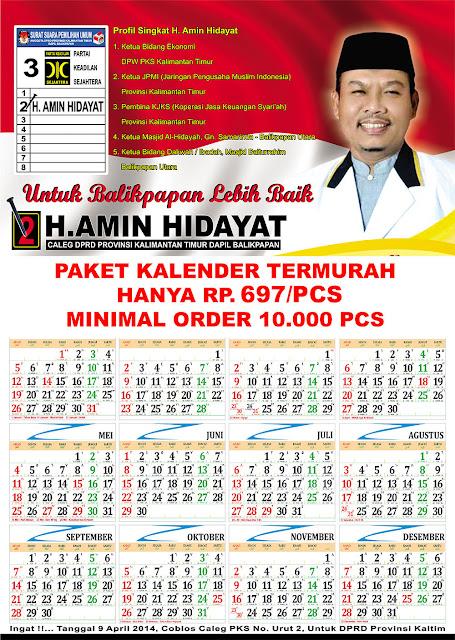 Bikin Kalender PILKADA MURAH