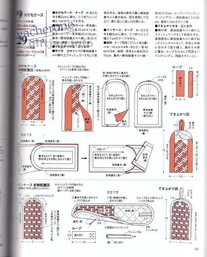 Косметичка, кошелек и пенал для ручек с плетеным из лент узором
