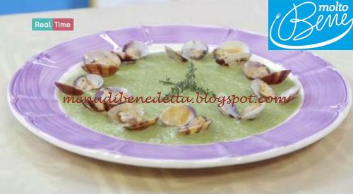 Crema di zucchine con vongole sautè ricetta Parodi per Molto Bene