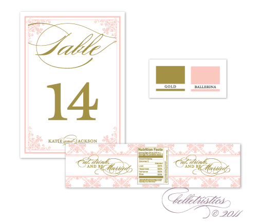 printable diy pink gold wedding reception table number sign design