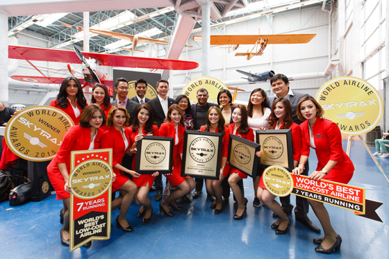 AirAsia named Asia & World's Best Low Cost Airline for 7th consecutive year