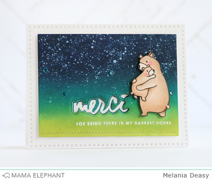 Mama Elephant Stamp Highlight Heartfelt Wishes