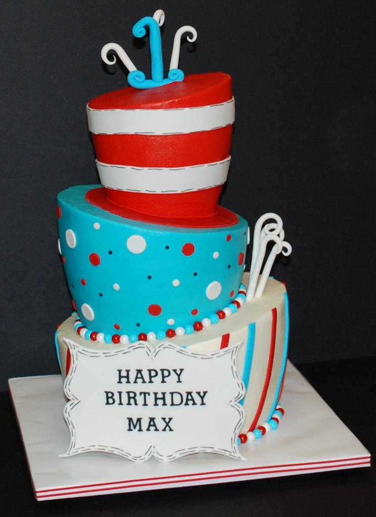 The Bakery Next Door Topsy Turvy 1st Birthday Cake