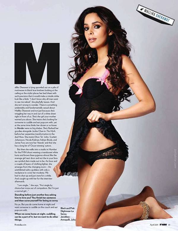 mallika-sherawat-topless-on-FHM-magazine