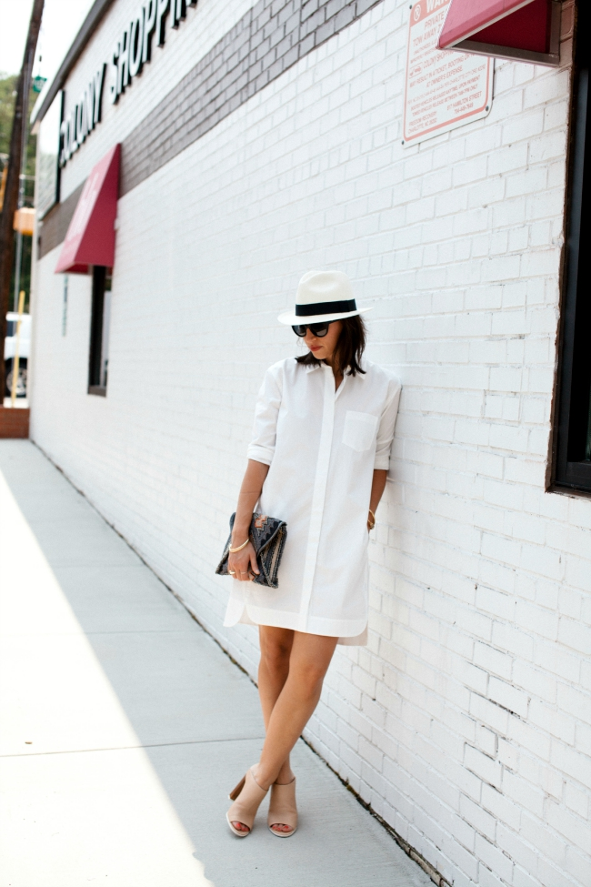 summer style series, shirt dress