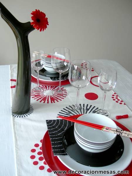 Decoracion de mesas mesa estilo oriental for Decoracion oriental