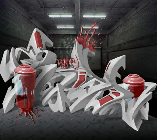 Grafity tawur: 3d Graffiti