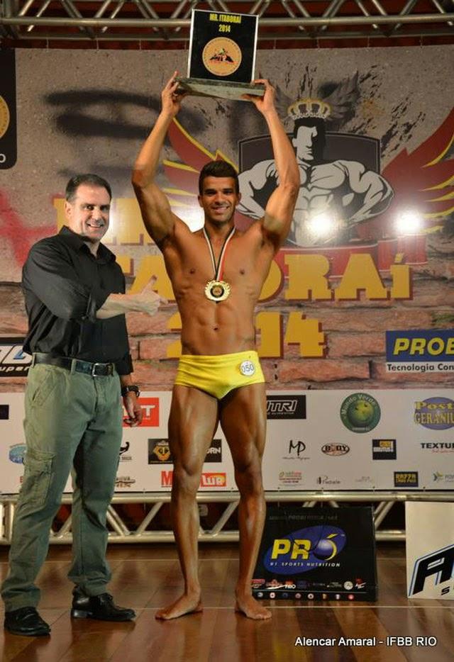 Pedro Lívio foi Campeão Body Shape do Mr. Itaboraí 2014 Foto: Alencar Amaral