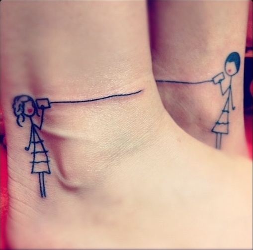 Friendship tattoos guy and girl parts