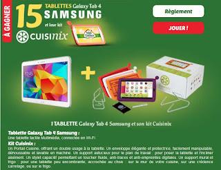 15 tablettes Samsung Galaxy Tab 4 à gagner !